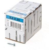 ASF Fischer Fischer Spaanplaatschroef platkop verzinkt pozidriv 5.0 x 25mm (Prijs per 200 stuks)
