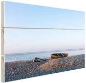 FotoCadeau.nl - Boot op het strand Hout 30x20 cm - Foto print op Hout (Wanddecoratie)