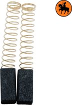 Koolborstelset voor Black & Decker Schuurmachine D102 - 6,35x6,35x13mm