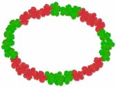 Hawaii krans rood/groen