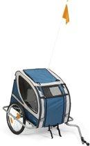 Beeztees Supremo - Dog Bike Trailer - Grey/Turquoise - 148 cm