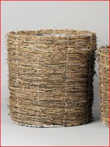 Rasteli Bamboe rieten mand met binnenhoes D 32 H 35