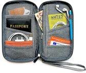 Now4you Luxe Reis Organizer - Paspoorthouder – Paspoorthoesje – Reisportefeuille -Grijs