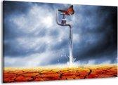 Canvas schilderij Modern | Bruin, Grijs | 140x90cm 1Luik