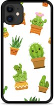 iPhone 11 Hardcase hoesje Happy Cactus