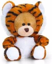 Keel Toys pluche beer knuffel in tijger onesie 14 cm