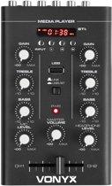 Mengpaneel - Vonyx STM500BT compacte 2 kanaals mixer met Bluetooth en mp3 speler