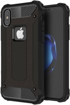 iPhone X - Hybrid Tough Armor-Case Bescherm-Cover Hoes - Zwart