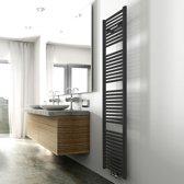 Wiesbaden Elara handdoekradiator mat zwart 1817x450 met onder aansluiting