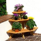 Houten bloementrap - bloemenrek hoekmodel