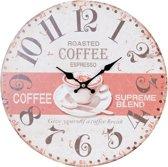 Clayre & Eef Klok Coffee 34 cm - Beige
