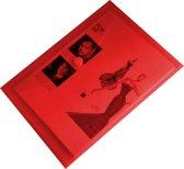 EXXO-HFP # 90146 - A4 Documentenmap - Landschap model - Klitsluiting - Rood - 1 Pak @ 10 stuks