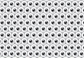 Fotobehang Abstract Pattern Modern Black White | M - 104cm x 70.5cm | 130g/m2 Vlies