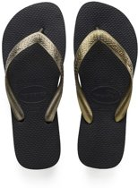 Havaianas Top Tiras Slippers Dames - Black/Golden