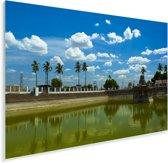 De tempelvijver in Chennai Plexiglas 90x60 cm - Foto print op Glas (Plexiglas wanddecoratie)