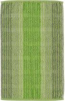 CAWÖ Noblesse Cashmere Streifen Gastendoekje - Groen -  30x50 Cm