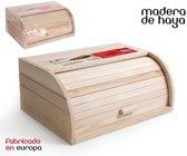 Broodtrommel met rolluik gemaakt van Wooden