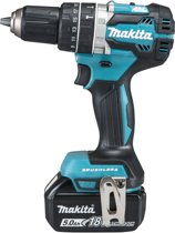 MAKITA Accuklopboormachine DHP484RTJ - 18 V - 5,0 AH Li-ion