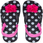 6749ad7e297a Zebra Slippers Girls Mini Zwart met Zilver 30 31