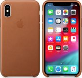 Apple Leather Backcover iPhone X / Xs hoesje - Bruin