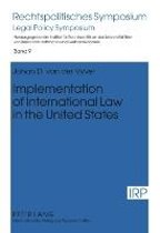 Implementation of International Law in the United States