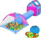 TecTake - Iglo kindertent - speeltent met tunnel + 200 ballen - 401233