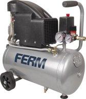 FERM CRM1045 Compressor (Oliegesmeerd) - 24 Liter - Max. 8 bar - 1100W - Incl. Universele snelkoppeling en 2 Manometers