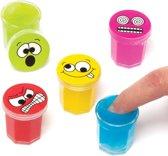 Putty met geluid en grappige gezichten. Klein speelgoed voor kinderen. Perfect voor feesttasjes voor jongens en meisjes (6 stuks)