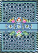 Pip Studio Schriften - A4 - 40 Bladzijdes - 3 Stuks - Indian Festival Blauw