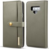 Samsung Galaxy Note 9 Leren 2-in-1 Bookcase en Back Cover Hoesje Groen