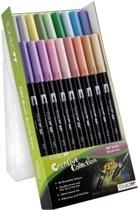 TOMBOW Dual Brush Pen ABT, 18-colours-set, pastels colours