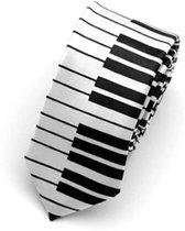 Leuke Piano Stropdas Wit | Happy Tie | Feest