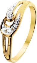 The Jewelry Collection Ring Diamant 0.022 Ct. - Geelgoud