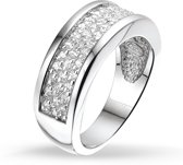 Silventi 943281942 60 Zilveren Ring - met Zirkonia - Pavé - Zilverkleurig