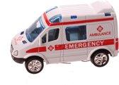 Jonotoys Ambulance 8,5 Cm Wit Met Pullback