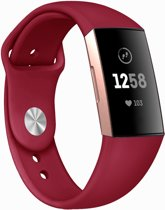 123Watches.nl Fitbit charge 3 sport silicone band - rood - ML