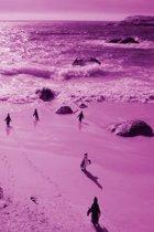 Alive! little penguin friends - Magenta duotone - Photo Art Notebooks (6 x 9 series)