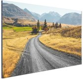 Weg Nieuw-Zeeland  Aluminium 180x120 cm - Foto print op Aluminium (metaal wanddecoratie) XXL / Groot formaat! / Zee en Strand