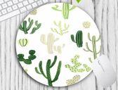 muismat Cactus - met textiel toplaag - rond 20 cm