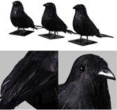 Duivenverjager | Realistische Nep Kraai / Raaf | Vogel verschrikker | Duiven verschrikker | Zwart