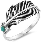 Feather ring Nilo - 925 zilver - maat 17.00 mm - maat 17.00 mm