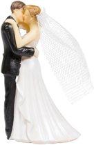 Bruidstaartdecoratie - 10 cm - bruiloft taarttopper figuurtjes