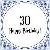 Bolcom Verjaardag Tegeltje Met Spreuk 88 Jaar Happy