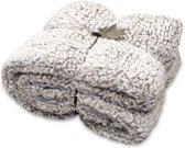 Unique Living Knut - Fleece Plaid - 150x200 cm - Pebble