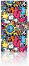 Samsung Galaxy Note 5 Uniek Boekhoesje Punk Rock