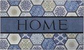 Schoonloopmat met print / Ecomaster Home Tegels Blauw 039 / 45 cm x 75 cm / Home Tegels Blauw 039