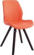 Clp Perth - Eetkamerstoel - Vierkant frame - Kunstleer - Oranje Kleur onderstel : cappucino
