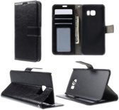 Samsung Galaxy S6 Edge Wallet Book Case Hoesje Zwart