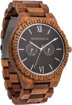 WoodWatch | Midnight Black | Houten horloge gemaakt van teak hout