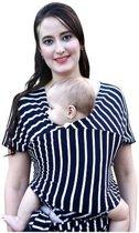 Baby draagdoek wrap Sling comfortabel en veilig 95% katoen en 5% spandex natuurlijke verfstof